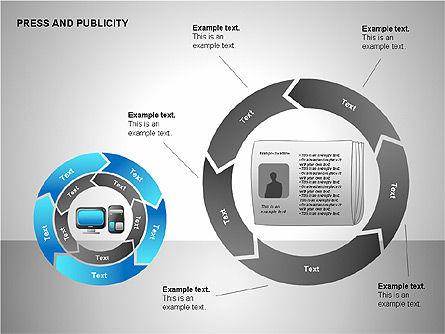 Press & Publicity Diagrams, Slide 15, 00152, Shapes — PoweredTemplate.com