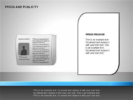 Press & Publicity Diagrams, Slide 5, 00152, Shapes — PoweredTemplate.com