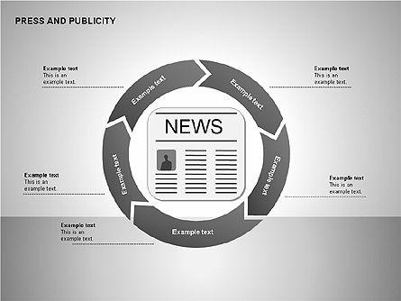 Press & Publicity Diagrams, Slide 6, 00152, Shapes — PoweredTemplate.com