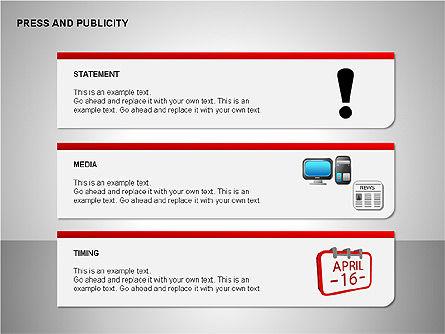 Press & Publicity Diagrams, Slide 7, 00152, Shapes — PoweredTemplate.com
