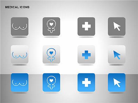 Medical Icons, Slide 11, 00153, Icons — PoweredTemplate.com