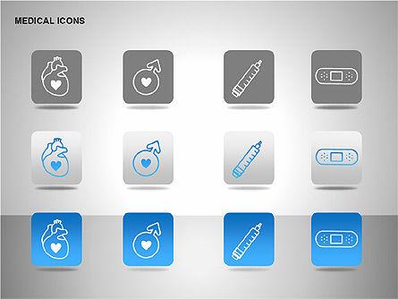 Medical Icons, Slide 12, 00153, Icons — PoweredTemplate.com