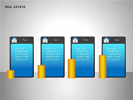 Real Estate Shapes and Diagrams, Slide 12, 00154, Shapes — PoweredTemplate.com