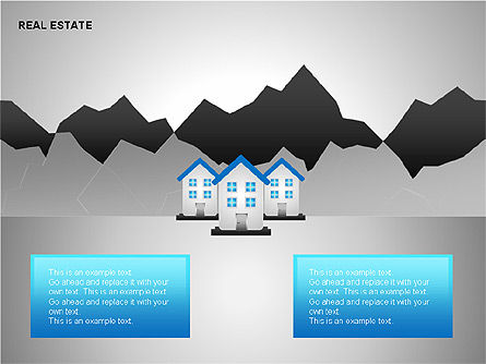 Real Estate Shapes and Diagrams, Slide 13, 00154, Shapes — PoweredTemplate.com