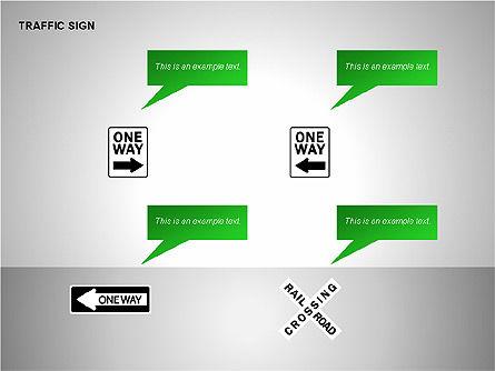 Traffic Signs, Slide 10, 00155, Shapes — PoweredTemplate.com