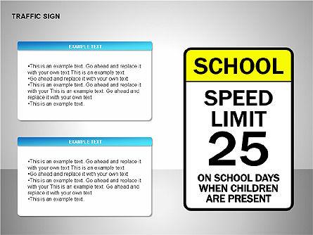 Traffic Signs, Slide 12, 00155, Shapes — PoweredTemplate.com