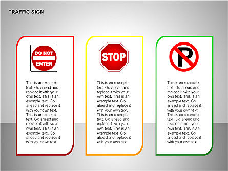 Traffic Signs, Slide 13, 00155, Shapes — PoweredTemplate.com