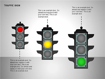 Traffic Signs, Slide 18, 00155, Shapes — PoweredTemplate.com