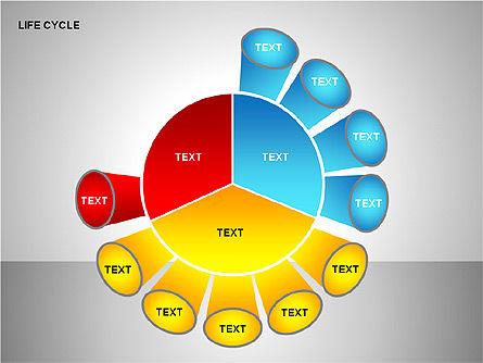 Life Cycle Diagram, Slide 11, 00157, Pie Charts — PoweredTemplate.com
