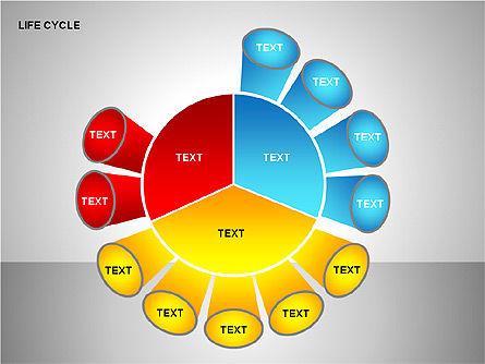 Life Cycle Diagram, Slide 12, 00157, Pie Charts — PoweredTemplate.com