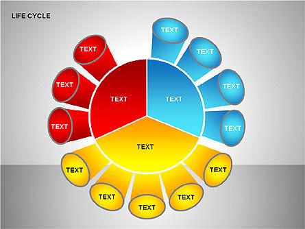Life Cycle Diagram, Slide 13, 00157, Pie Charts — PoweredTemplate.com