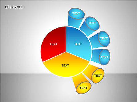 Life Cycle Diagram, Slide 7, 00157, Pie Charts — PoweredTemplate.com