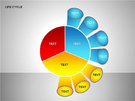 Life Cycle Diagram, Slide 8, 00157, Pie Charts — PoweredTemplate.com