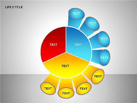 Life Cycle Diagram, Slide 9, 00157, Pie Charts — PoweredTemplate.com