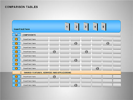 Comparison Tables Collection Slide 3