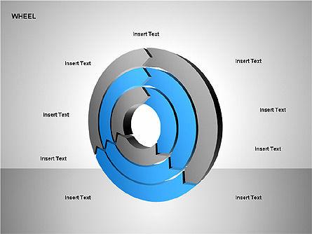 Wheel Diagrams Collection, Slide 11, 00159, Pie Charts — PoweredTemplate.com