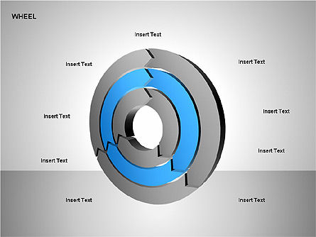 Wheel Diagrams Collection, Slide 12, 00159, Pie Charts — PoweredTemplate.com