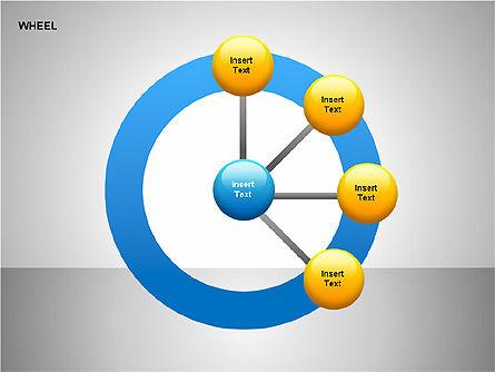 Wheel Diagrams Collection, Slide 16, 00159, Pie Charts — PoweredTemplate.com