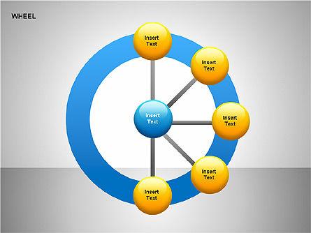 Wheel Diagrams Collection, Slide 17, 00159, Pie Charts — PoweredTemplate.com