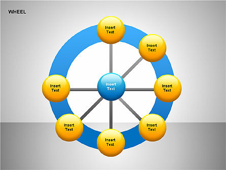 Wheel Diagrams Collection, Slide 19, 00159, Pie Charts — PoweredTemplate.com