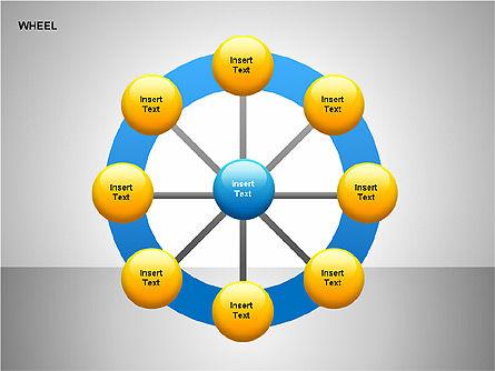 Wheel Diagrams Collection, Slide 20, 00159, Pie Charts — PoweredTemplate.com