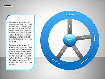 Wheel Diagrams Collection, Slide 5, 00159, Pie Charts — PoweredTemplate.com