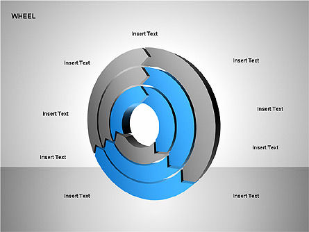 Wheel Diagrams Collection, Slide 8, 00159, Pie Charts — PoweredTemplate.com