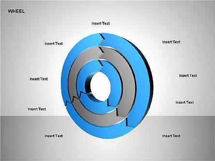 Wheel Diagrams Collection, Slide 9, 00159, Pie Charts — PoweredTemplate.com