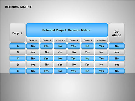 Decision Matrix, 00163, Matrix Charts — PoweredTemplate.com