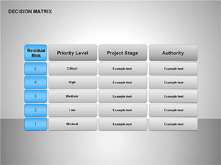 Decision Matrix, Slide 10, 00163, Matrix Charts — PoweredTemplate.com