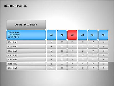 Decision Matrix, Slide 11, 00163, Matrix Charts — PoweredTemplate.com