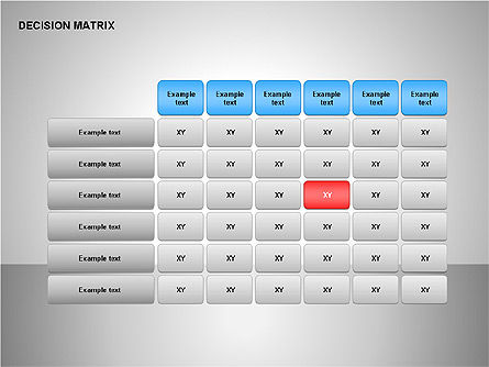 Decision Matrix, Slide 12, 00163, Matrix Charts — PoweredTemplate.com