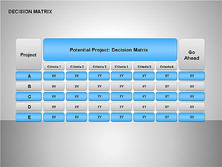Decision Matrix, Slide 13, 00163, Matrix Charts — PoweredTemplate.com