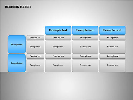Decision Matrix, Slide 14, 00163, Matrix Charts — PoweredTemplate.com