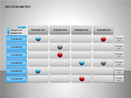 Decision Matrix, Slide 15, 00163, Matrix Charts — PoweredTemplate.com