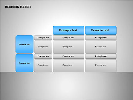 Decision Matrix, Slide 2, 00163, Matrix Charts — PoweredTemplate.com