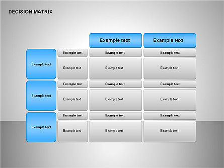 Decision Matrix, Slide 3, 00163, Matrix Charts — PoweredTemplate.com