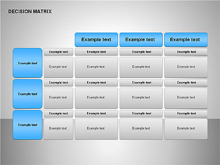 Decision Matrix, Slide 4, 00163, Matrix Charts — PoweredTemplate.com
