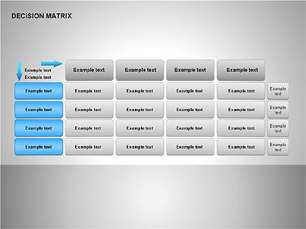 Decision Matrix, Slide 6, 00163, Matrix Charts — PoweredTemplate.com