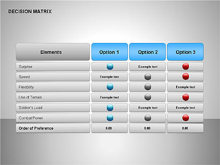 Decision Matrix, Slide 7, 00163, Matrix Charts — PoweredTemplate.com