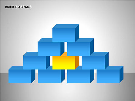 Brick Diagrams Collection, Slide 10, 00166, Shapes — PoweredTemplate.com