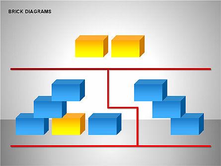 Brick Diagrams Collection, Slide 11, 00166, Shapes — PoweredTemplate.com