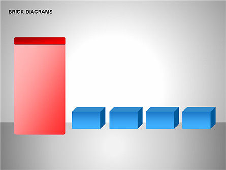 Brick Diagrams Collection, Slide 12, 00166, Shapes — PoweredTemplate.com