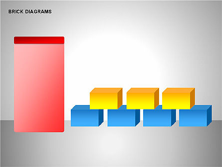 Brick Diagrams Collection, Slide 13, 00166, Shapes — PoweredTemplate.com