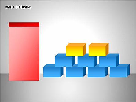 Brick Diagrams Collection, Slide 14, 00166, Shapes — PoweredTemplate.com