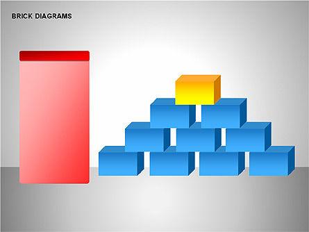 Brick Diagrams Collection, Slide 15, 00166, Shapes — PoweredTemplate.com
