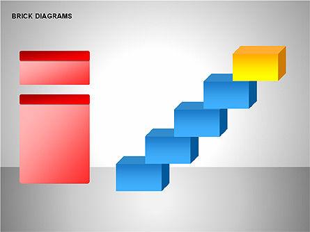 Brick Diagrams Collection, Slide 5, 00166, Shapes — PoweredTemplate.com