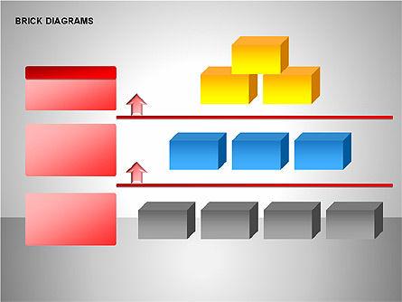 Brick Diagrams Collection, Slide 6, 00166, Shapes — PoweredTemplate.com
