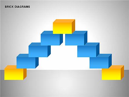 Brick Diagrams Collection, Slide 8, 00166, Shapes — PoweredTemplate.com