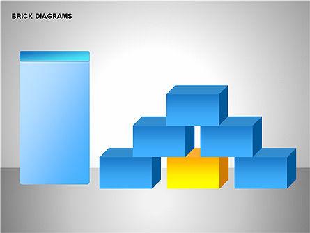 Brick Diagrams Collection, Slide 9, 00166, Shapes — PoweredTemplate.com